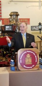 PA State Rep Stephen Barrar speaking at PA National Fire Museum